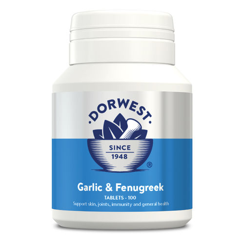 Dorwest Herbs Garlic & Fenugreek Tablets for Dogs and Cats