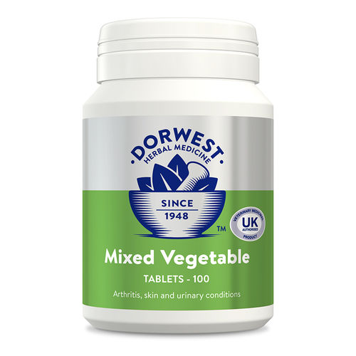Dorwest Herbs Mixed Vegetable Tablets for Dogs and Cats