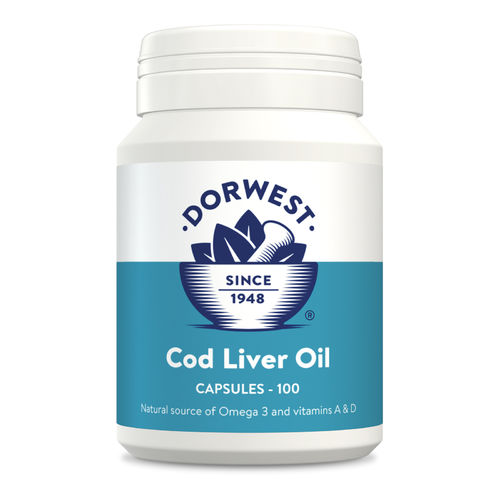 Dorwest Herbs Cod Liver Oil Capsules for Dogs and Cats