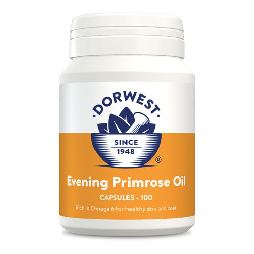 Dorwest Herbs Evening Primrose Oil Capsules for Dogs and Cats
