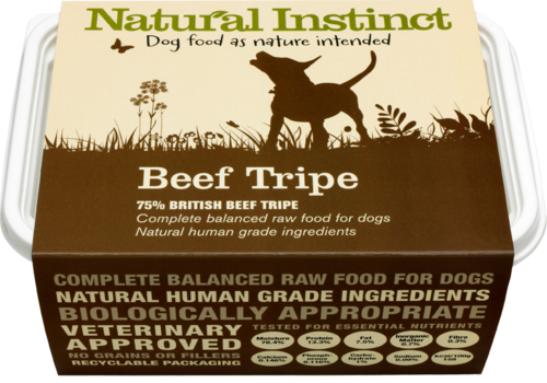 Natural Instinct: Natural Beef Tripe Dog Food