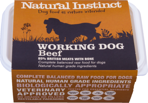 Natural Instinct: Working Dog Beef Food