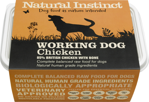 Natural Instinct: Working Dog Chicken Food