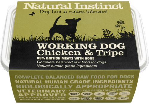 Natural Instinct: Working Dog Chicken & Tripe Food