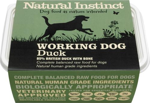 Natural Instinct: Working Dog Duck Food