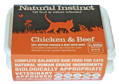 Natural Instinct: Chicken & Beef Cat Food *Collection Only*