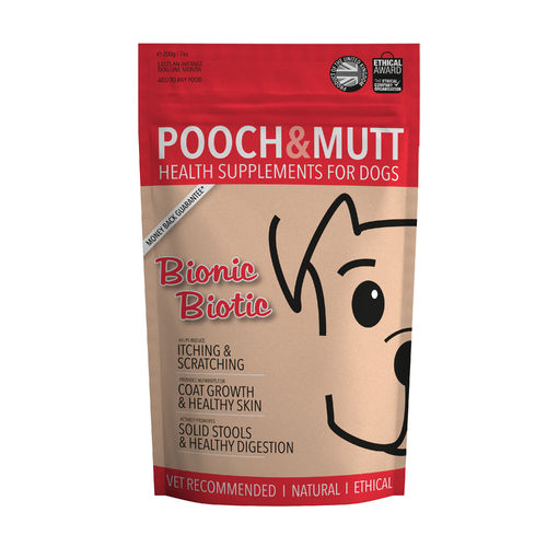 Pooch & Mutt - Bionic Biotic Dog Supplement