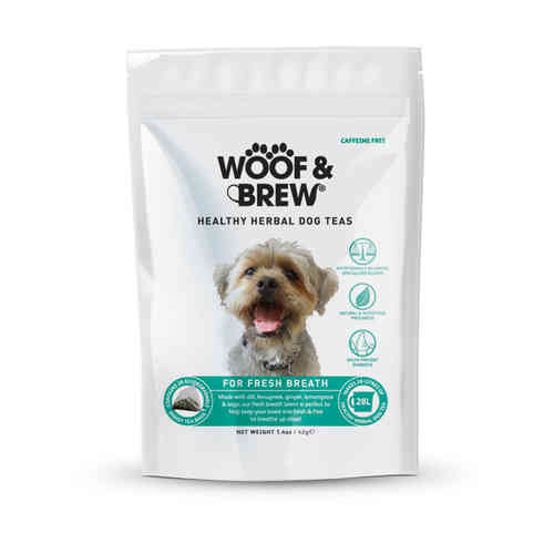 Woof & Brew Herbal Dog Tea - Fresh Breath Blend