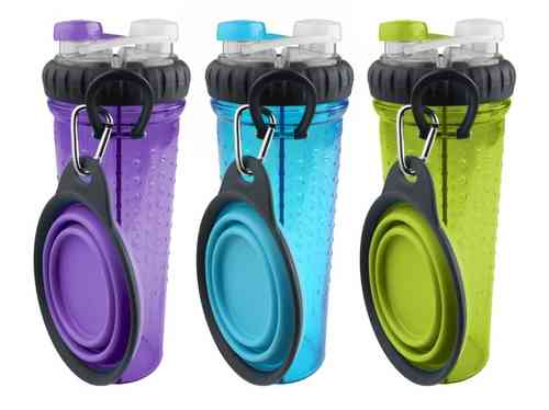 Dexas Popware H-Duo Drinking Bottle with Collapsible Travel Cup