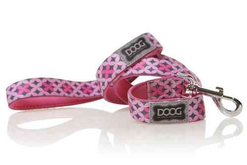 DOOG Toto Dog Lead (Pink & Grey)