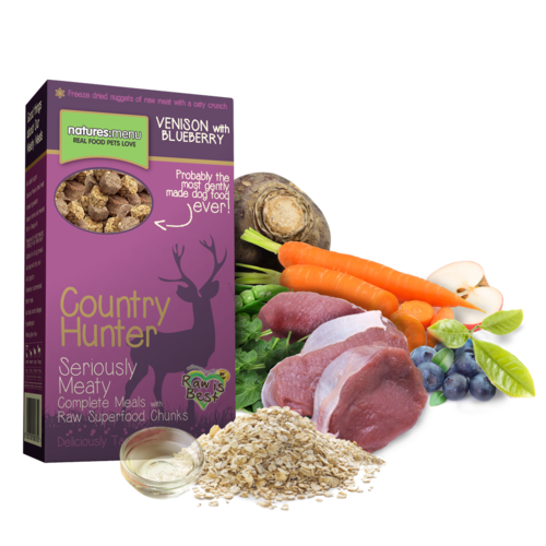Natures Menu Country Hunter Superfood Crunch - Venison with Blueberries