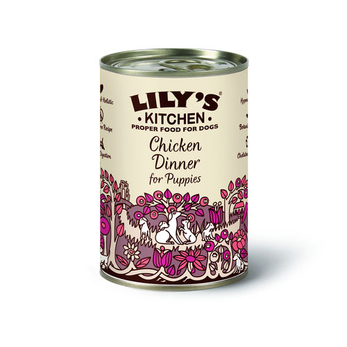 Lily's Kitchen:  Chicken Dinner for Puppies Tin Food