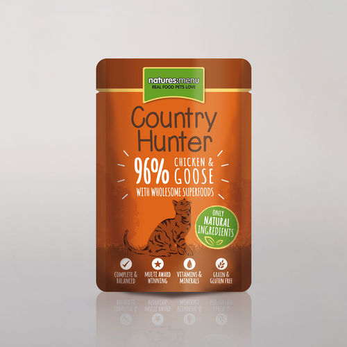 Natures Menu - Country Hunter Chicken and Goose Cat Pouch