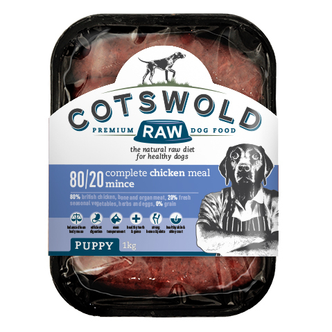 Cotswold Raw Puppy - 80/20 Chicken Complete Meal Mince *Collection Only*
