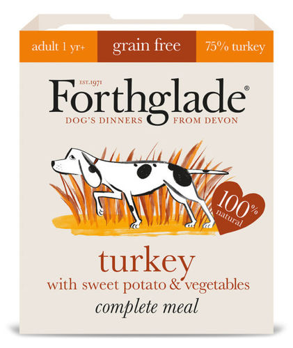 Forthglade Complete Grain Free Adult Turkey with Sweet Potato & Vegetables 395g