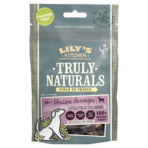 Lily's Kitchen: Truly Naturals Mini Venison Sausages for Dogs