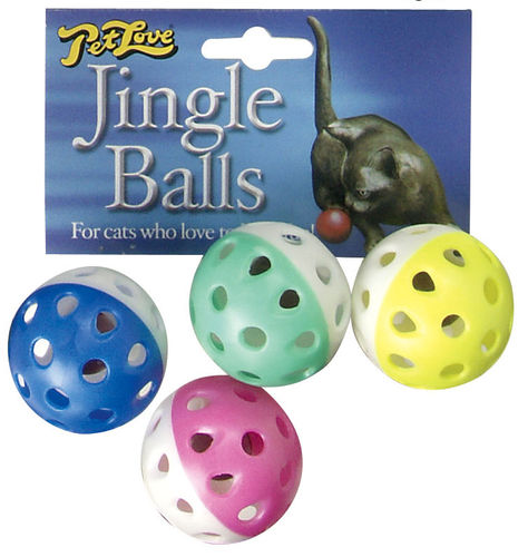Petlove Jingle Balls 4 Pack