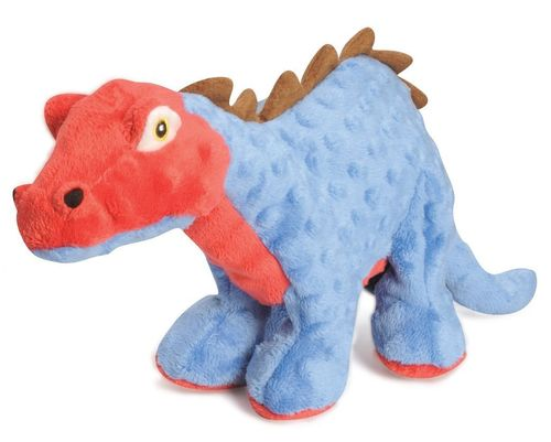 Dinosaur Blue Squeaky Dog Toy