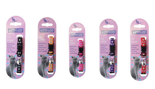 Kitty & Co Reflective Polka Dot Snap Free Cat Collar