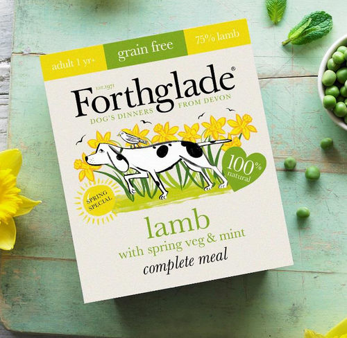 Forthglade Complete Grain Free Adult Lamb with Spring Veg & Mint 395g