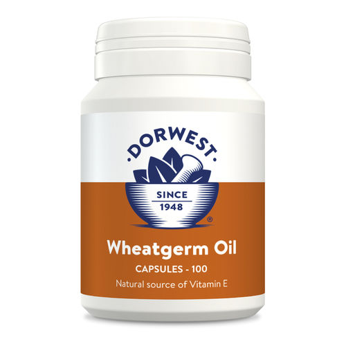 Dorwest Herbs Wheatgerm Oil Capsules for Dogs and Cats