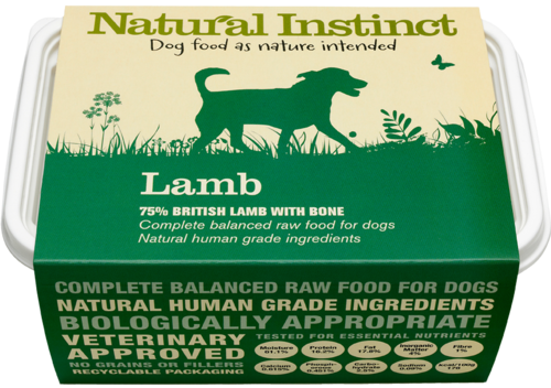 Natural Instinct: Natural Lamb Dog Food *Collection Only*