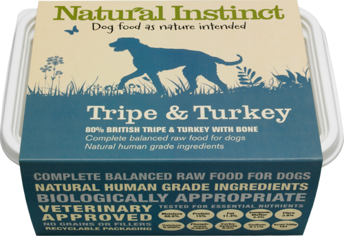 Natural Instinct: Natural Tripe & Turkey Dog Food *Collection Only*