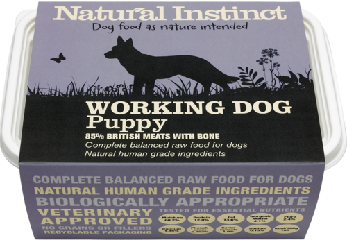 Natural Instinct: Working Dog Puppy Food *Collection Only*