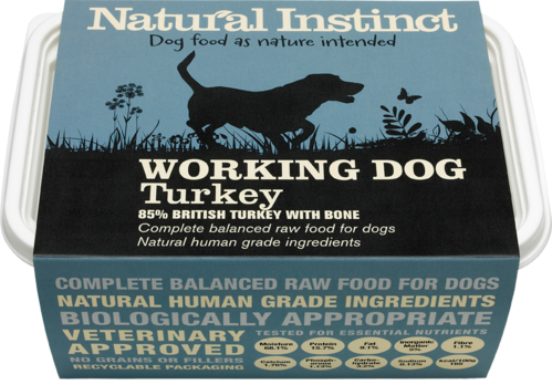 Natural Instinct: Working Dog Turkey Food *Collection Only*