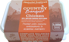 Natural Instinct: Country Banquet Chicken Cat Food *Collection Only*