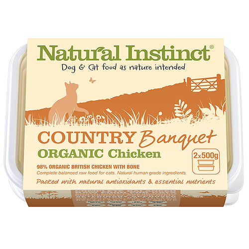 Natural Instinct: Country Banquet Organic Chicken Cat Food *Collection Only*