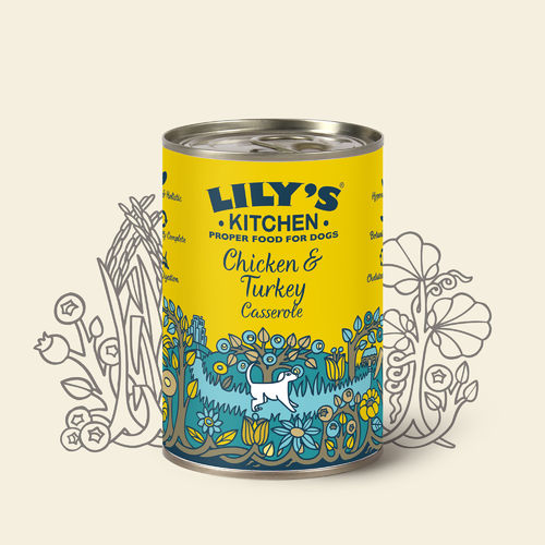 Lily's Kitchen:  Chicken and Turkey Casserole for Dogs Tin Food