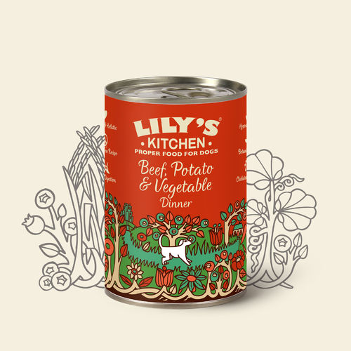 Lily's Kitchen:  Beef Potato and Vegetable Dinner for Dogs Tin Food
