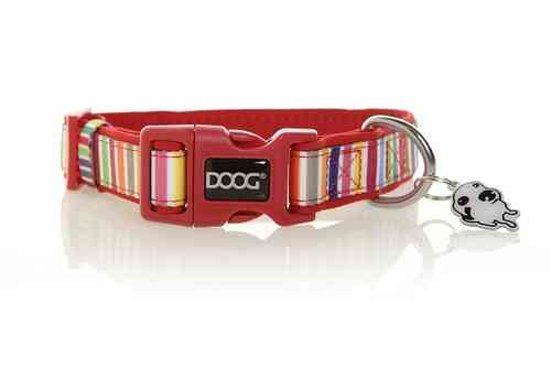 DOOG Scooby Dog Collar (Candy Stripe)