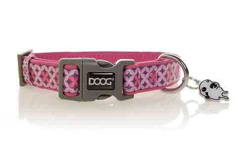 DOOG Toto Dog Collar (Pink & Grey)