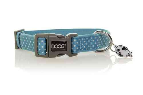DOOG Snoopy Dog Collar (Blue & White Polkadot)