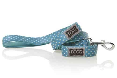 DOOG Snoopy Dog Lead (Blue & White Polkapot)