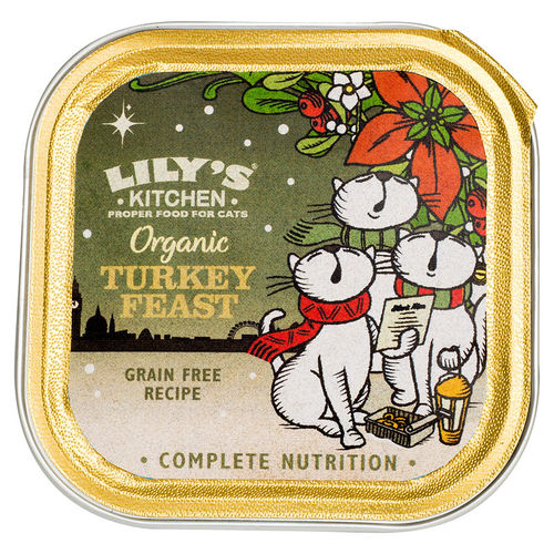 Lily's Kitchen:  Organic Christmas Turkey Feast for Cats 2016
