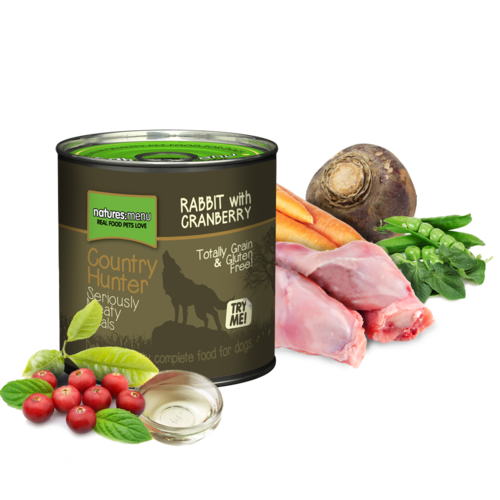 Natures Menu Country Hunter Cans - Full-Flavoured Rabbit
