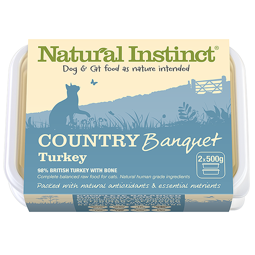Natural Instinct: Country Banquet Turkey Cat Food *Collection Only*