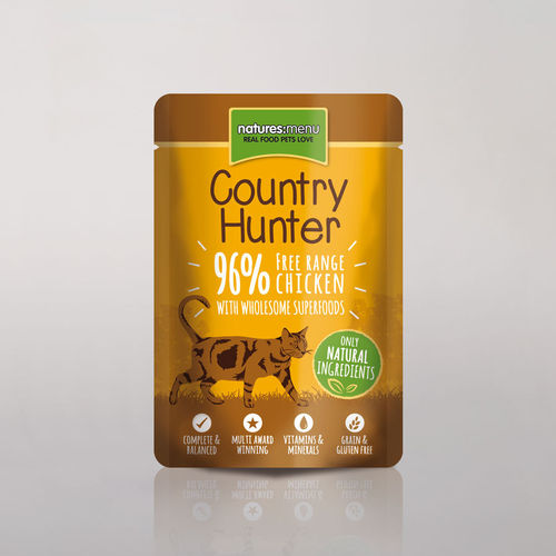 Natures Menu - Country Hunter Free Range Chicken Cat Pouch