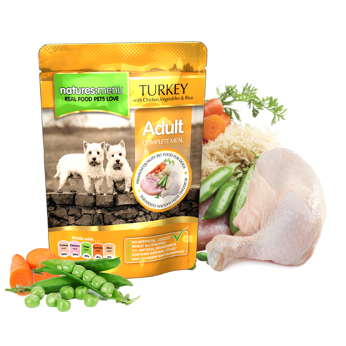 Natures Menu - Turkey with Chicken Pouch for Dogs