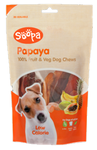 Soopa 100% Papaya Dog Treat 100g