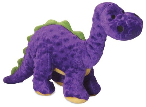 Dinosaur Purple Squeaky Dog Toy