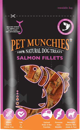 Pet Munchies - Salmon Fillets 90g