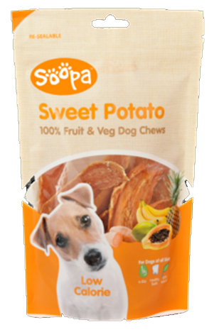 Soopa 100% Sweet Potato Dog Treat 100g