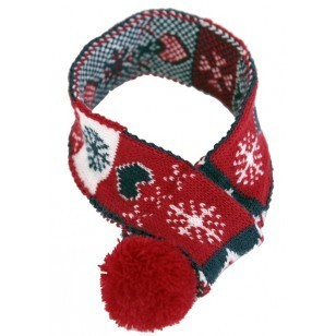 Christmas Scarf with Pompom - Large 65cm