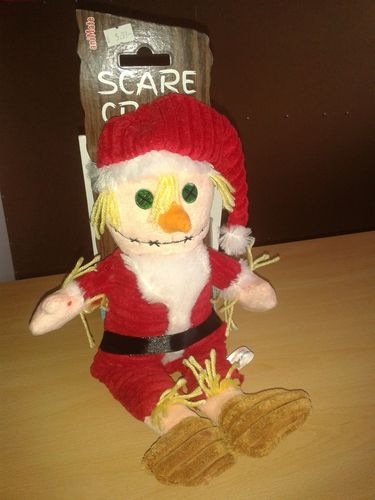 Father Christmas Scarecrow Dog Toy