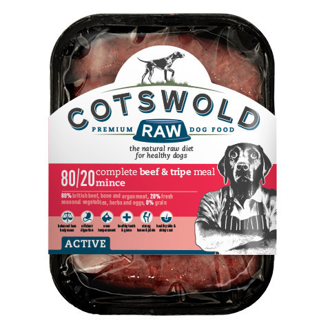 Cotswold Raw Beef and Tripe Mince - 80/20 ACTIVE *Collection Only*