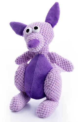 Kangaroo Purple Squeaky Dog Toy